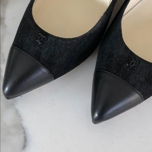 CHANEL Shoes - Black CHANEL suede pumps NWT